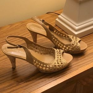 Franco Sarto Cork Heeled Sandals